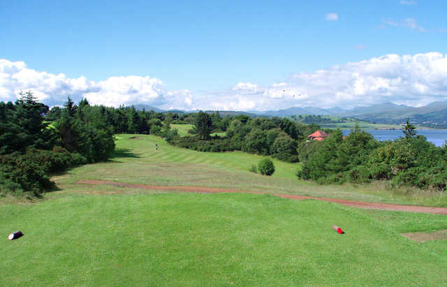 A view from tee #2 at Championship from Greenock Golf Club.