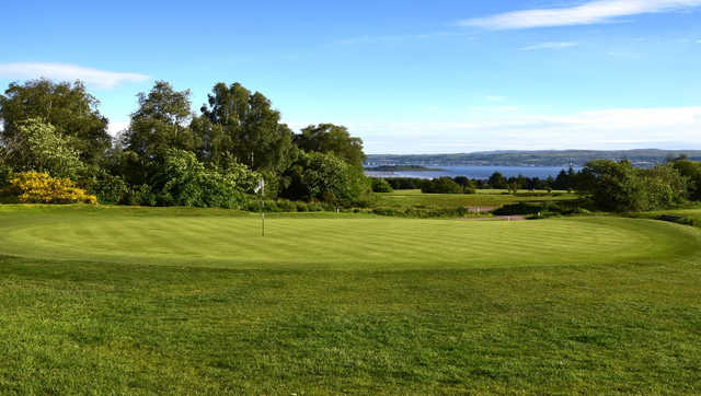 A view of a green at Helensburgh Golf Club.