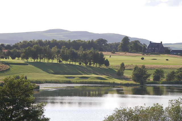 A view of hole #8 at Lochmaben Golf Club.