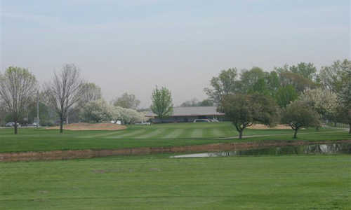 A view of the clubhouse at Airport Golf Course