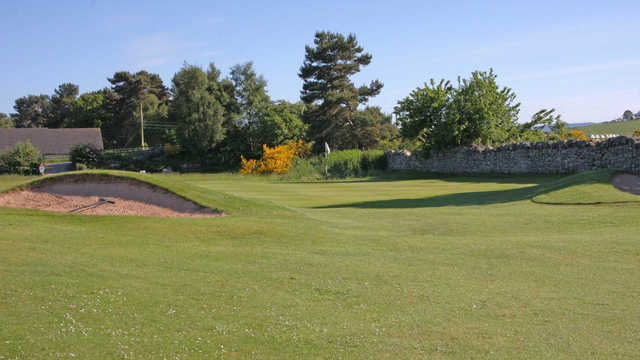 A view of the 4th green at The Muir of Ord Golf Club.
