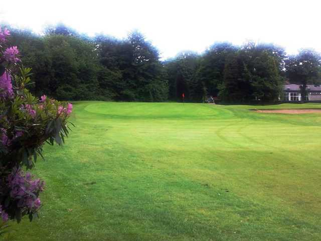A view of the 18th green at Renfrew Golf Club.