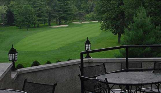 A view from the clubhouse patio at Columbus Country Club