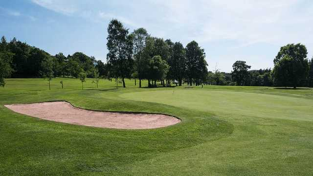 A view of a hole at Blackburn Golf Club.