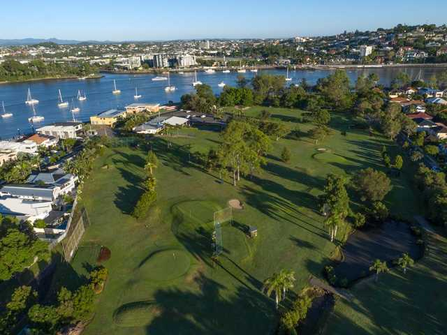 Aerial view from Bulimba Golf Club