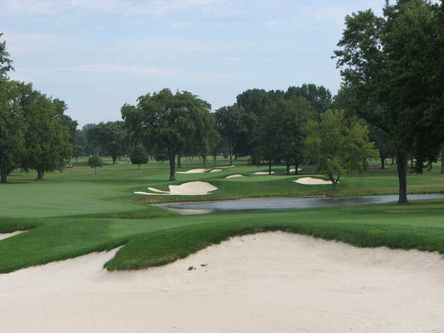 A view of hole #4 at Scarlet at Ohio State University Golf Course