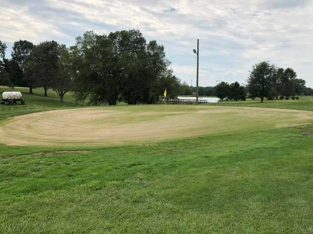 A view of a hole at Clear Creek Golf Course.