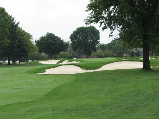 A view of the 9th hole at Scarlet at Ohio State University Golf Course