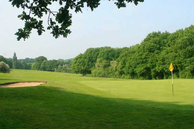 A view of a hole at Colchester Golf Club.