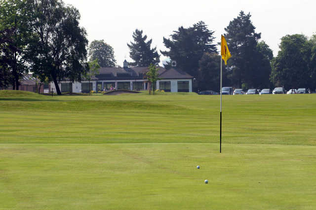 A view of a green at Colchester Golf Club.