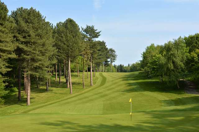 Looking back from the 15th green at Westerham Golf Club