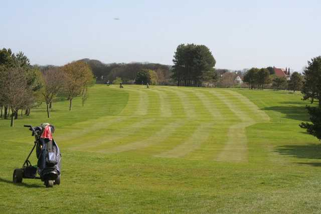 A view of a fairway at Main Course from Filey Golf Club.
