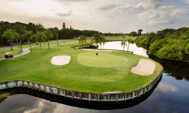 View of the 17th hole at St. Petersburg Country Club.