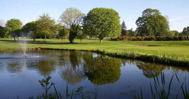 A view over a pond at Hull Golf Club.