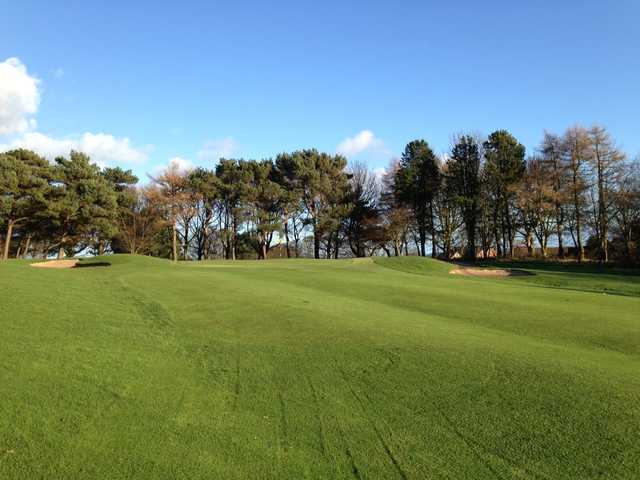 A view of the 14th green at Scarborough North Cliff Golf Club.