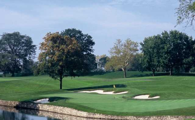 A view of the 17th green at Scioto Country Club