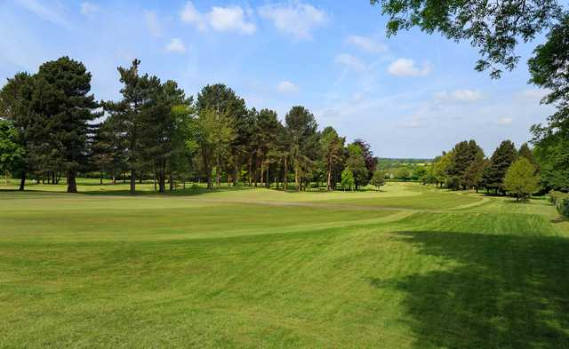 A view of fairway #1 at South Staffordshire Golf Club.
