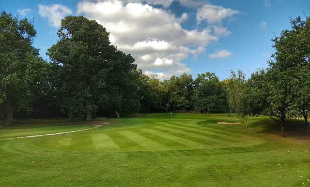 View of a green at Radlett Park Golf Club