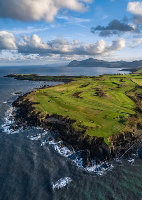 Aerial view from Nefyn and District Golf Club