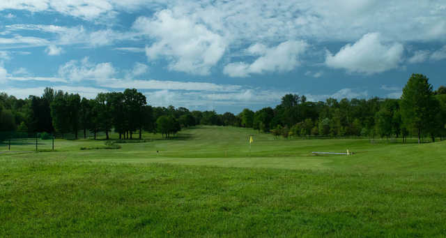 A view of a green at Stover Golf Club.
