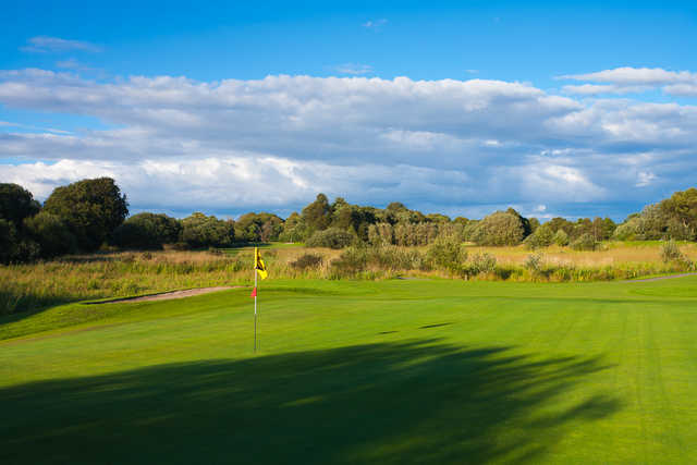 A view of the 14th green at Bishopbriggs Golf Club.