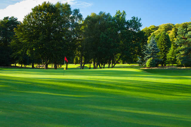 A view of hole #1 at Bishopbriggs Golf Club.