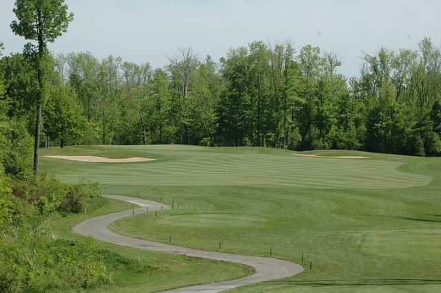 A view of green #15 at Cumberland Trail Golf Course