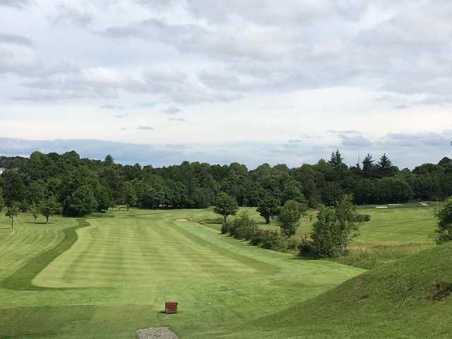 A view of a fairway at Rouken Glen Golf Centre.