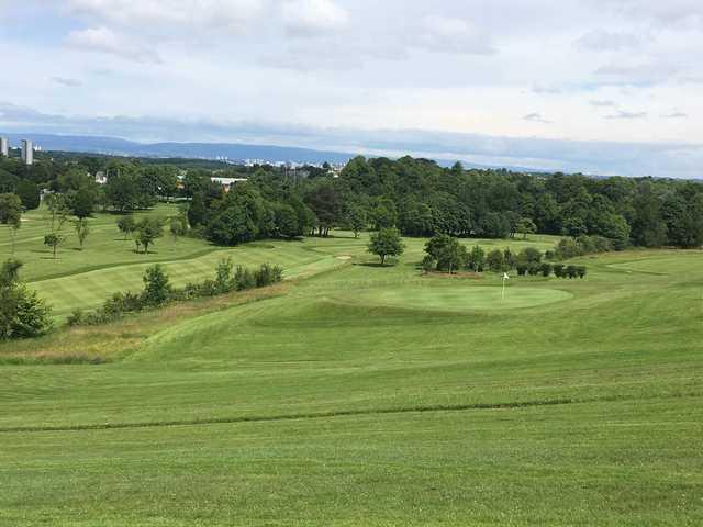 A view of a green at Rouken Glen Golf Centre.