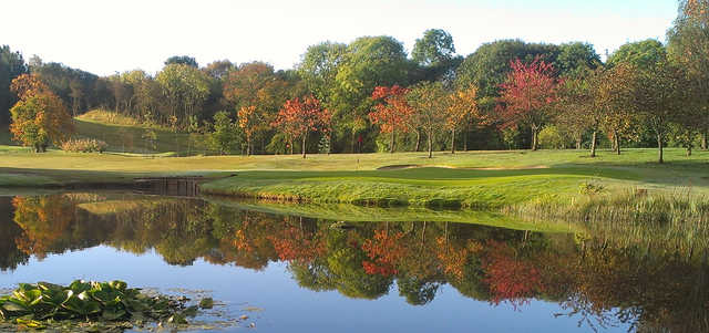 A view of hole #12 at Williamwood Golf Club.
