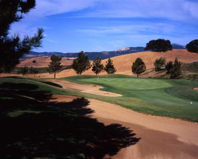 A view of green #3 at Rancho Solano Golf Course.
