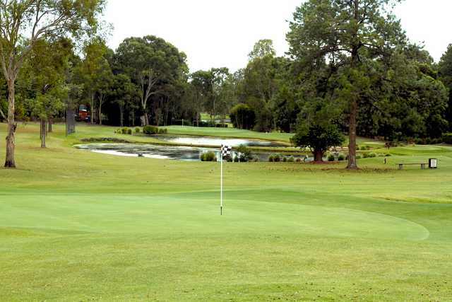 A view of the 1st and 9th hole at Lakeside Country Club.