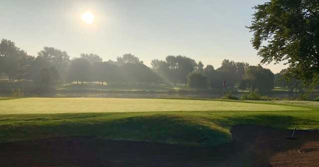 View of a green at Pottawatomie Golf Club.