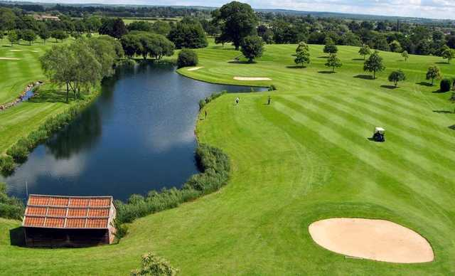 View of the 8th fairway and green from Hallmark Hotel Stratford-upon-Avon The Welcombe
