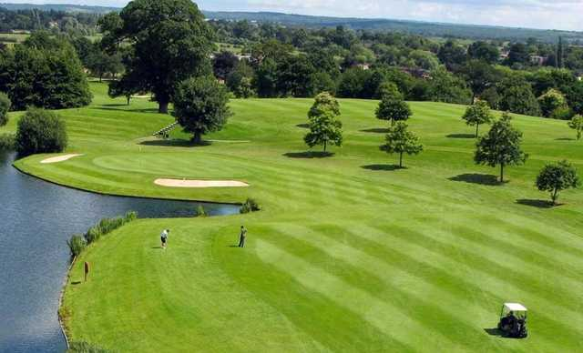 View of the 8th green from Hallmark Hotel Stratford-upon-Avon The Welcombe