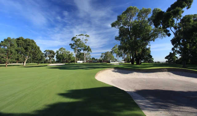 A view of a fairway at Cranbourne Golf Club.