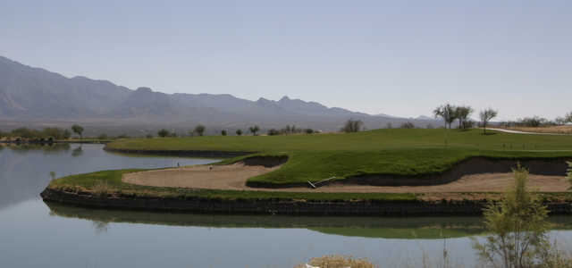 A view over the water from Canoa Ranch Golf Club.