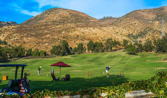 A view of the driving range at The Crosby Club.