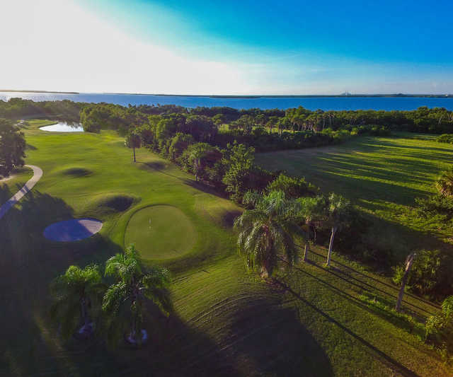 Looking back from the 12th green at Terra Ceia Bay Country Club.
