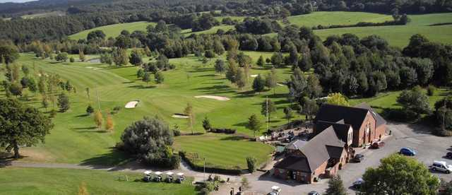 Aerial view from Cleobury Mortimer Golf Club