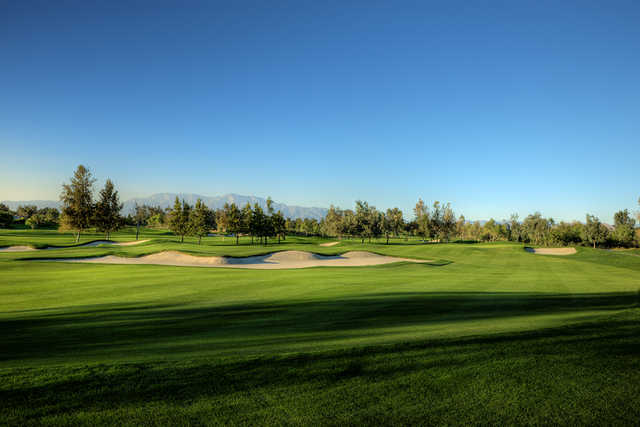 A view from the right side of a fairway at Goose Creek Golf Club.