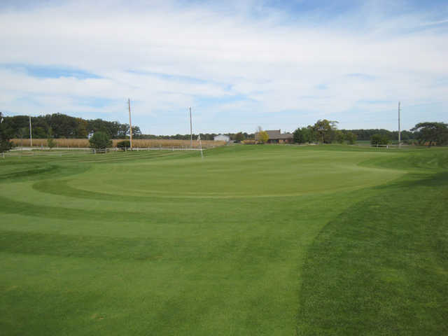A view of green #9 at The Ridge Golf & Gardens