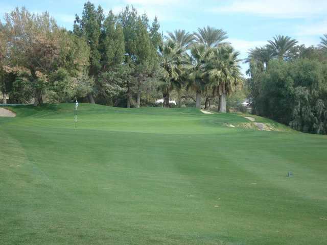 A view of the 18th green at Shadow Ridge Golf Club.
