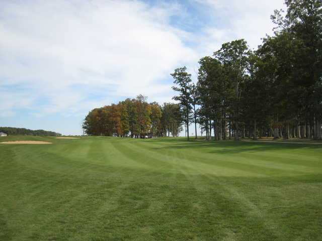 A view of the 18th fairway at The Ridge Golf & Gardens