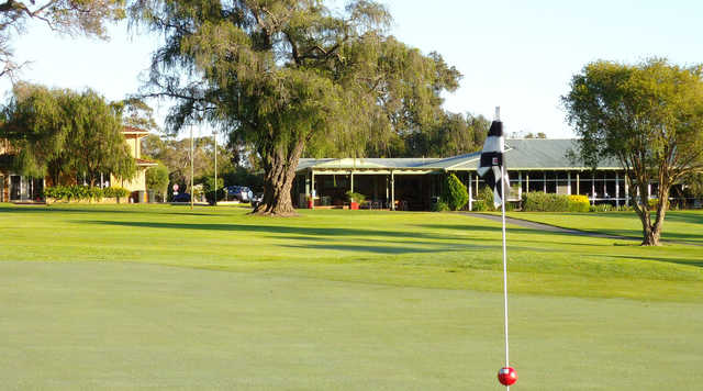 View from a green at Busselton Golf Club
