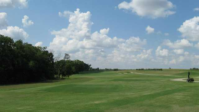 A view of a tee at The Bridges Golf Club.