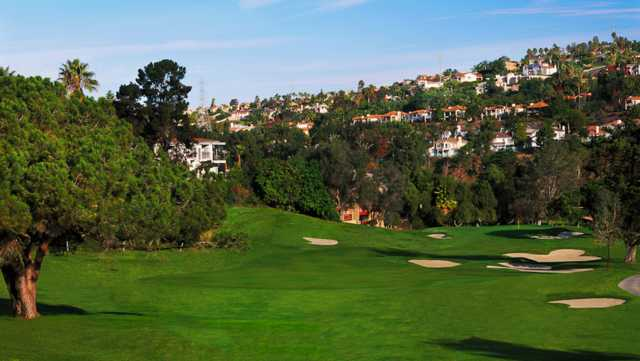A view of the well protected hole #5 at Legends Course from Omni La Costa Resort & Spa.