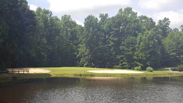 View of the 16th green at Prince George Golf Course