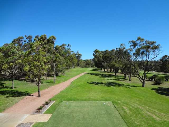 View from a tee at Kwinana Golf Club