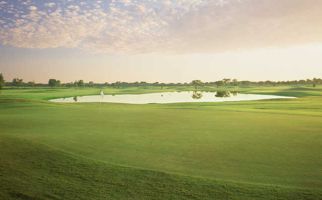 A view of the 6th green at Regulation from Lake Park Golf Course.